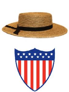 lancaster logo straw hat 070511