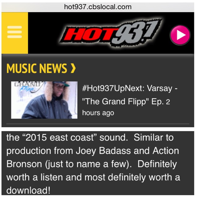 S/O CT'S #Hot937 for picking up @Varsay_'s #TheGrandFlippEP !! Free Download still live @ hyadef.com  #hiphop #newmusic #boombap #futuristic #EastCoast