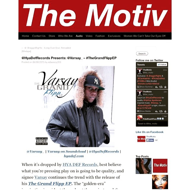 Shout outs to @the_motiv 4 a dope write up on that Grand Flipp (ep) don't 4 get to snatch that free Download at HyaDef.com - #Themotiv #eastcoast #hiphop #dope #CT #NYC #RI #MASS #recordlabel #Artist #dope #production #HYADEF - shout 2 the team @cdotjonesy @skatterbrain @mikepiff