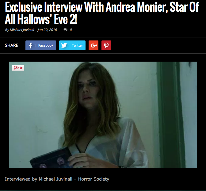 Exclusive Interview with Andrea Monier