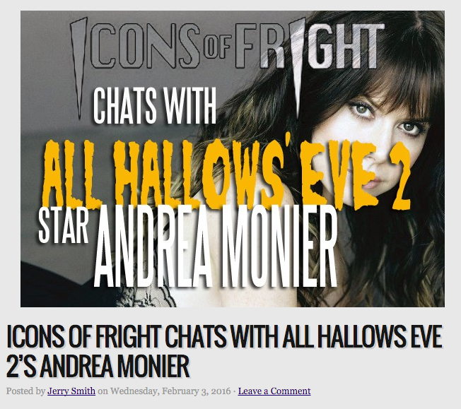 Icons of Fright Chats with Andrea Monier