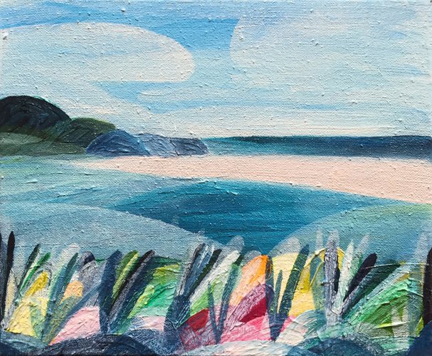 'Magic Summer Memories, Secret Spot' (East Coast Tasmania)    2016 20cm x 26cm Synthetic Polymer on Belgium Linen