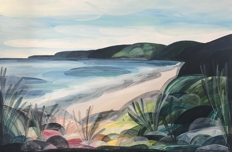 'Memories, Wonder, Time' (approaching Big Hill, Eastern View)  2017 144cm x 94cm Synthetic Polymer on Canvas   Commission through Boom Gallery