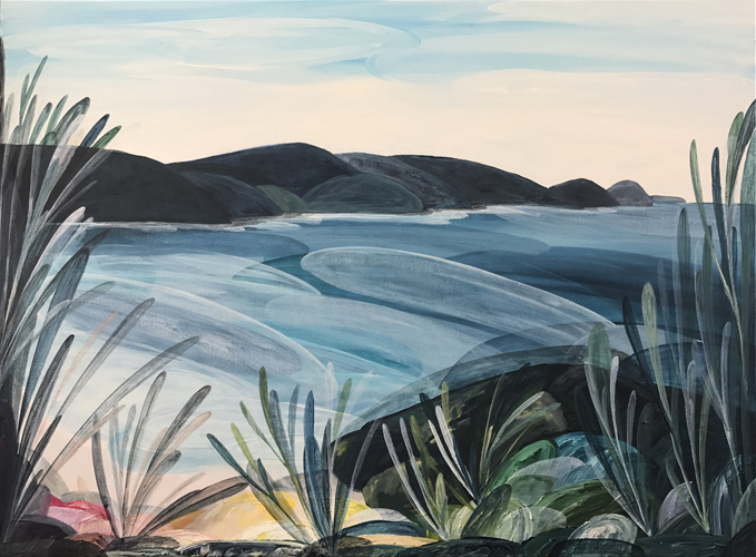 'Lovely Lorne Point, Memories'  2017 84cm x 64cm Synthetic Polymer on Canvas Private Commission Victoria