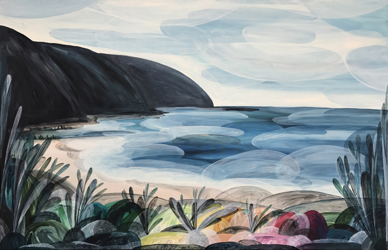 'There are Days when you can Gaze at the Majesty of the Ocean Forever' (Wye River)  2017 94cm x 144cm Synthetic Polymer on Canvas Private Commission Victoria