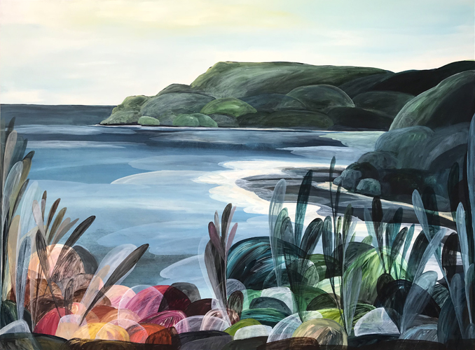 'Morning Light on Lorne, Time Standing Still'  2018 110cm x 150cm Acyrlic on Board Private commission Geelong