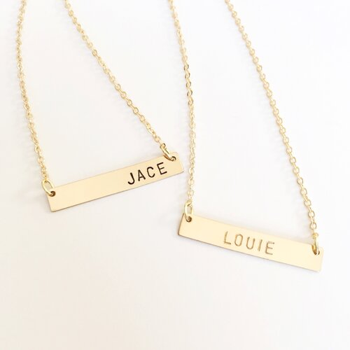 Personalized Gold Pendant Personalized gold bar necklace kim divine jewelry personalized gold bar necklace audiocablefo