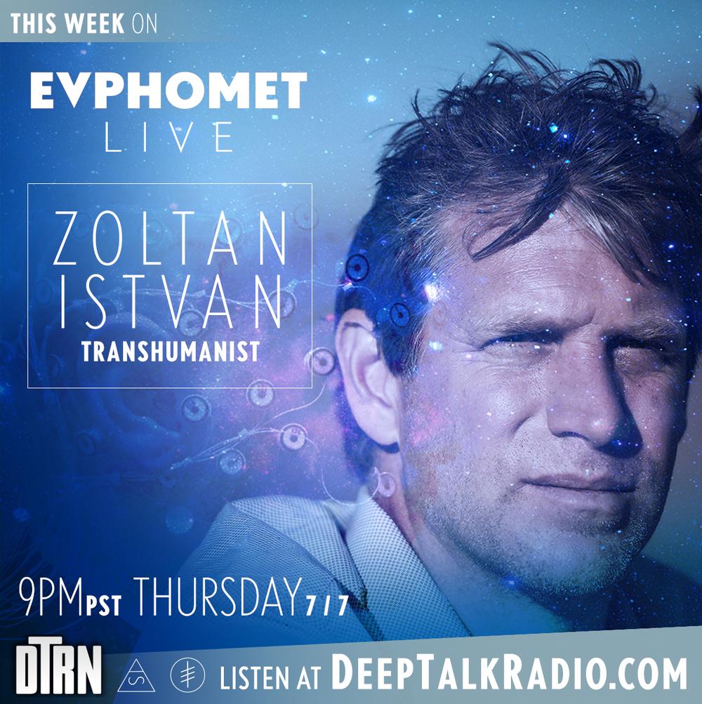Thursday 7/7 at 9pm PST on DeepTalkRadio.com