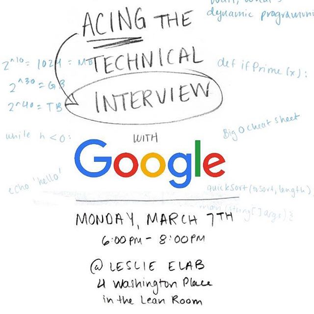planning for a summer internship soon? come join us + friends from @google & learn how to ace the tech interview!!! 🙌🏿💻🙌🏽💓🙌🏻