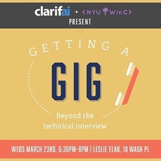 Post-spring break blues? 🌼🌸🌺 We got you covered with an exciting event this Wednesday!  Cami Williams, Clarifai dev evangelist and tech interview veteran is coming to school us on how to dazzle interviewers...off the whiteboard.  Topics include: common behavioral interview questions, logic questions (and how to prepare), how to have an effective phone screen, asking for rec letters.  Bring your resumé! Dinner will be served 😋