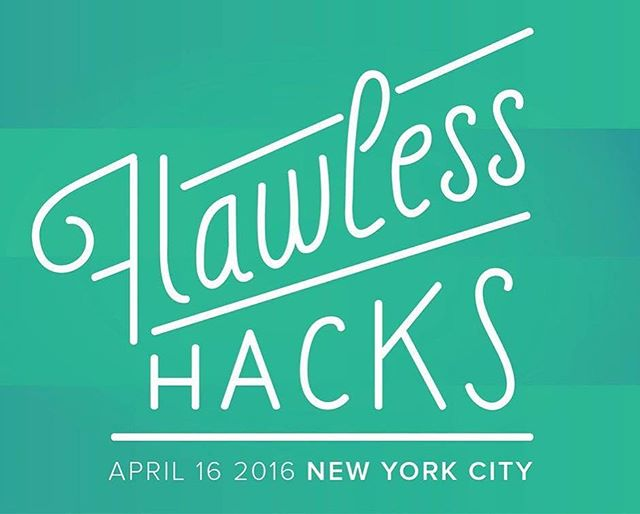 We're having the very first ✨Flawless Hacks✨ for #womenintech next month in NYC!!! 🙌🏾🙌🏽🙌🏻 Register @   to be part of this all-women & wonderful event !!! stay #flawless yo
