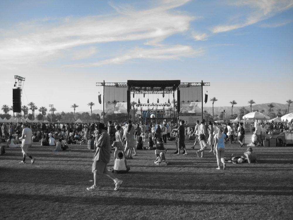 Taking in the Coachella scene