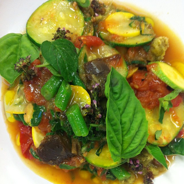 Sumer vegetable cianfotta.