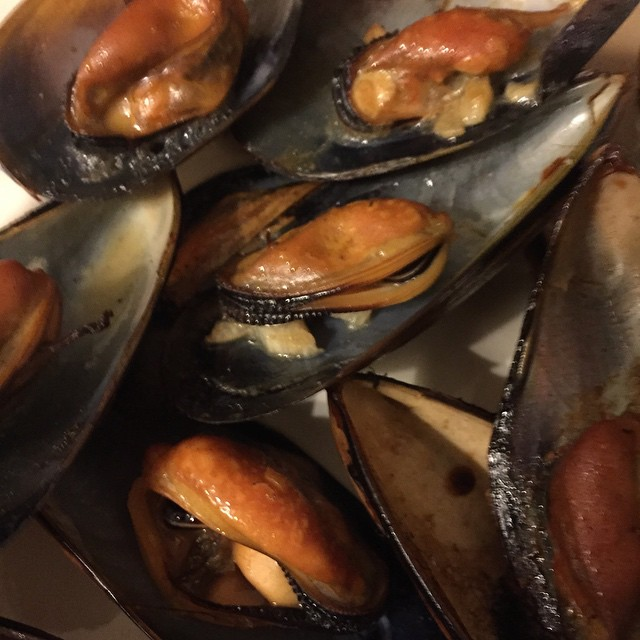 Kelp smoked Dromana Bay mussels...These might just make it to the menu..