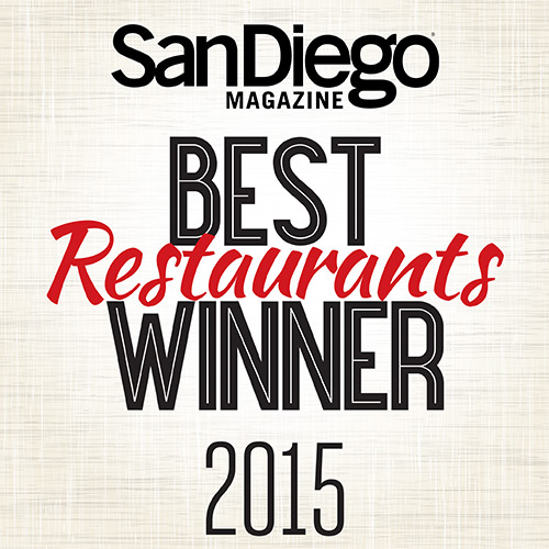 Red Door voted San Diego's #BestFarmtoTable & Runner Up #BestNeighborhoodRestaurant for 2015