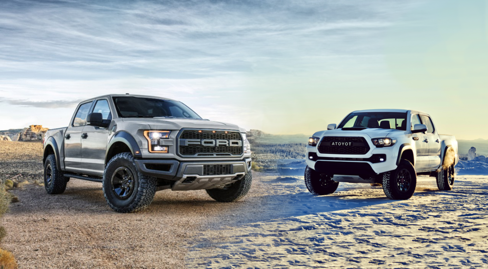 2017 ford raptor vs trd pro tacoma shift supercars. Black Bedroom Furniture Sets. Home Design Ideas