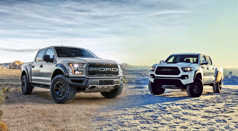 2020 Ford Raptor vs TRD Pro Tacoma — Shift Supercars