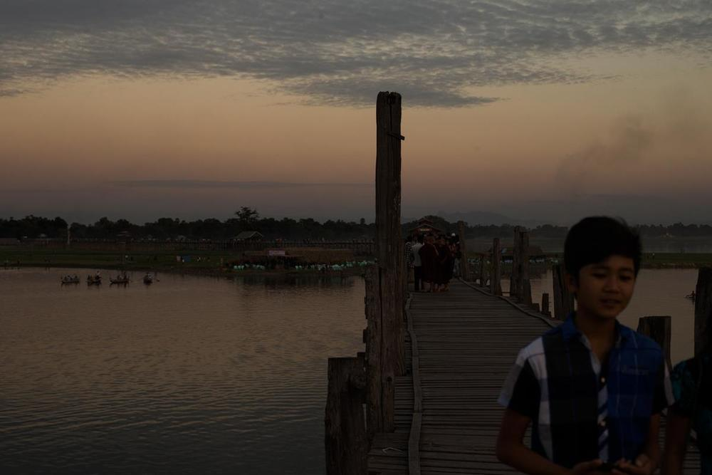 U-Bein Bridge - Mandalay - Burma