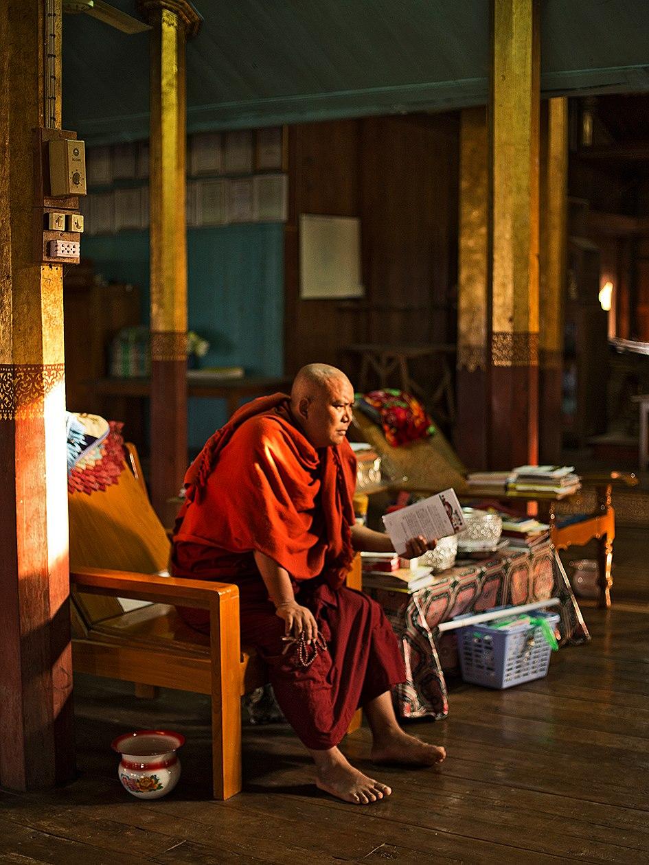 Buddhist Monk -  Nga Phe Kyaung Monastery - Burma