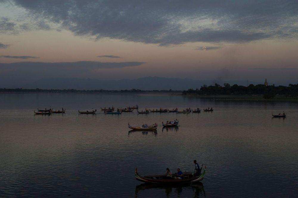 U-Bein Bridge -Mandalay - Burma