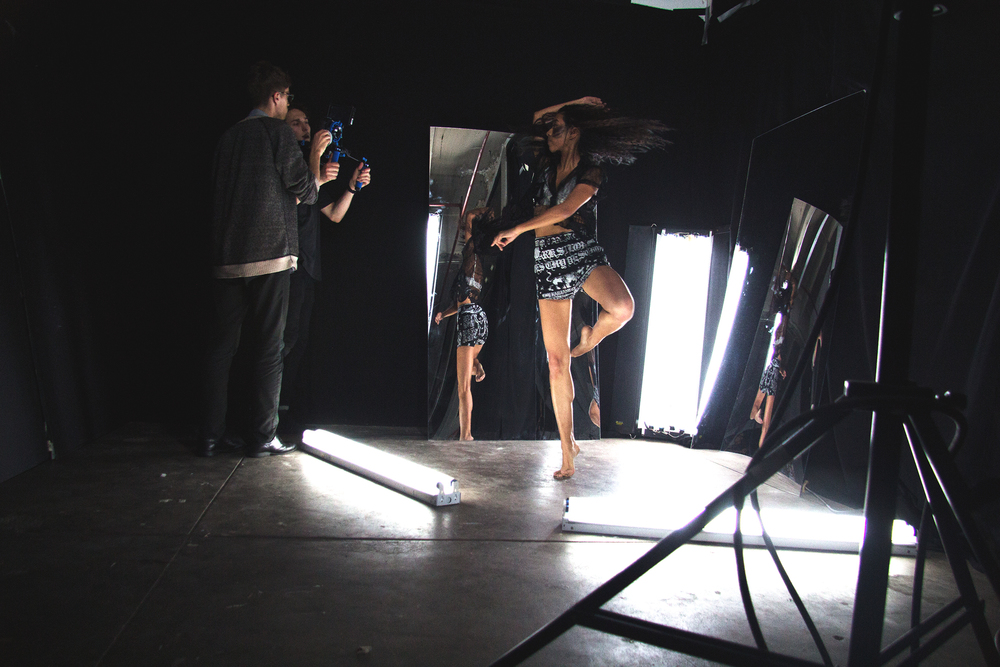 Behind the scene of a videoshoot in NYC