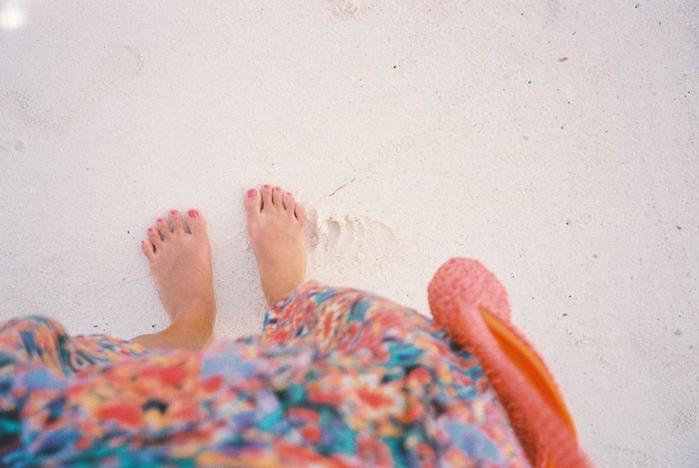真っ白な砂