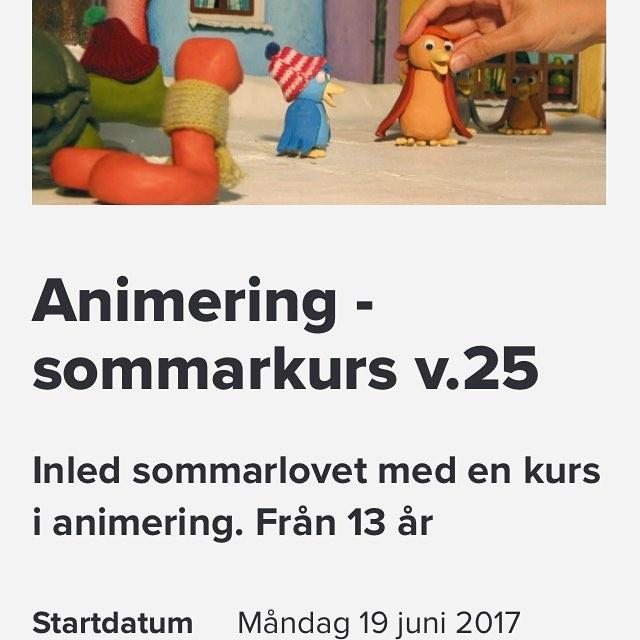 Fyra dagars stop-motion-kurs med Anna som lärare! Anmälan på www.sensus.se (skriv animation i sökrutan så hittar du) Välkommen!