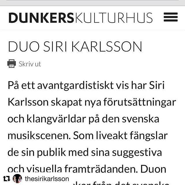 @thesirikarlsson Dunkers kulturhus, Helsingborg, ikväll!! 🍁❤️🍁❤️🍁#dunkerskulturhus #helsingborg #sirikarlsson