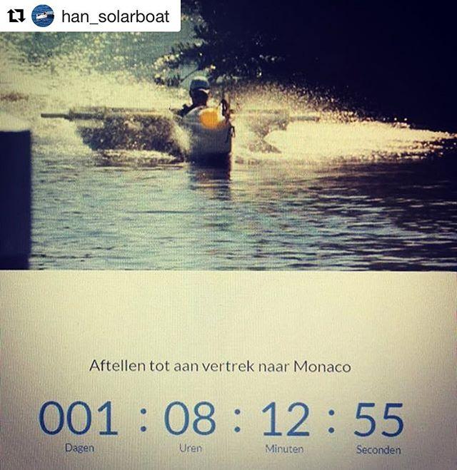 Morgen vertrekt de @han_solarboat naar Monaco. Veel succes! Repost: @han_solarboat #han #wedstrijd #studeertechniek