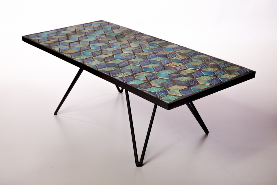 MAYFAIR Table with DESIGN 1 Tiles