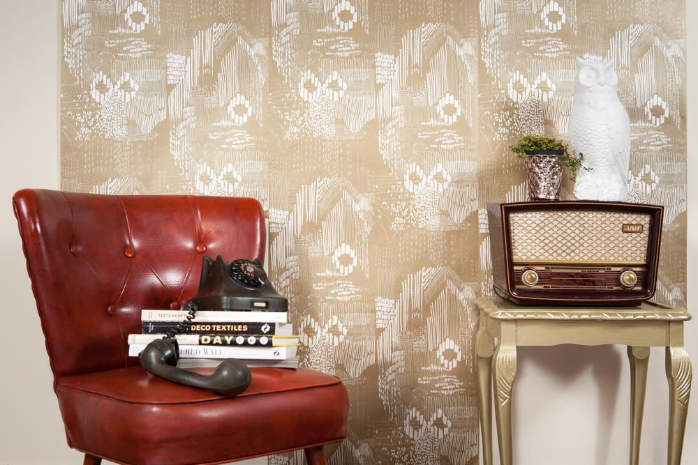Surfacephilia wallpaper in Flo - Gold design