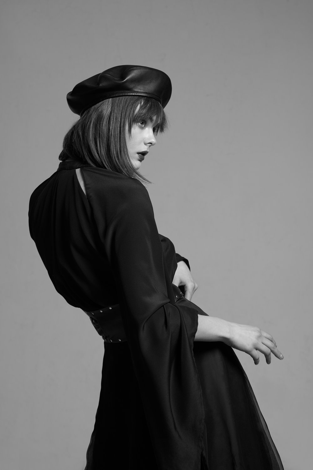 Blouse: Magdalena Mól  Beret & Belt: Black & White Bazaar  Skirt: So Chic So Freak