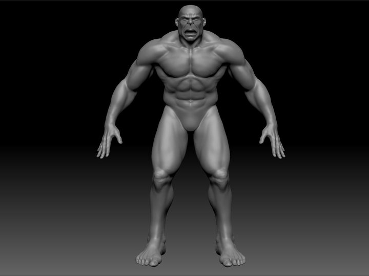 First pass in ZBrush Still have to tighten the ana.jpg