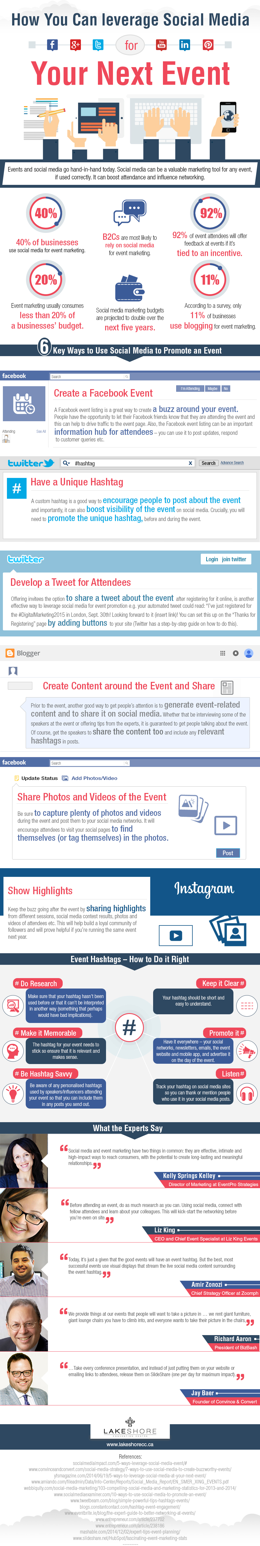 """How you can leverage social media at your next event"" By Tom Pick via www.business2community.com/"