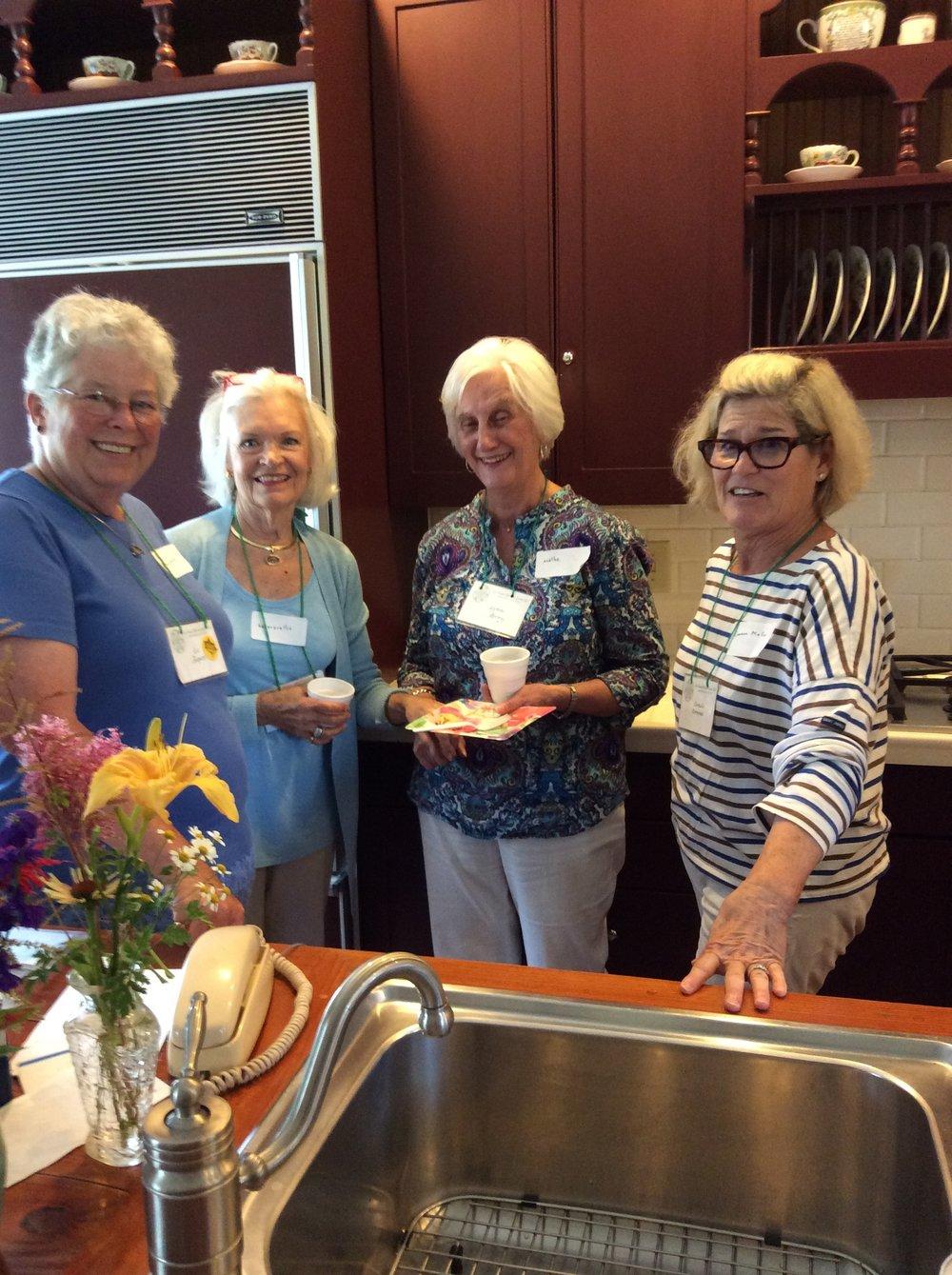 Liz, Elizabeth, Lynne, and Corn