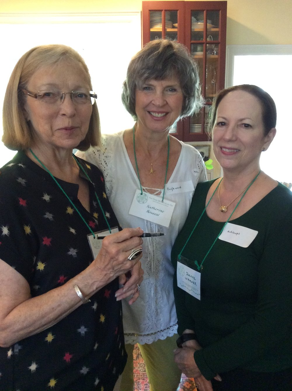 Carol, Katherine, and Jeanne