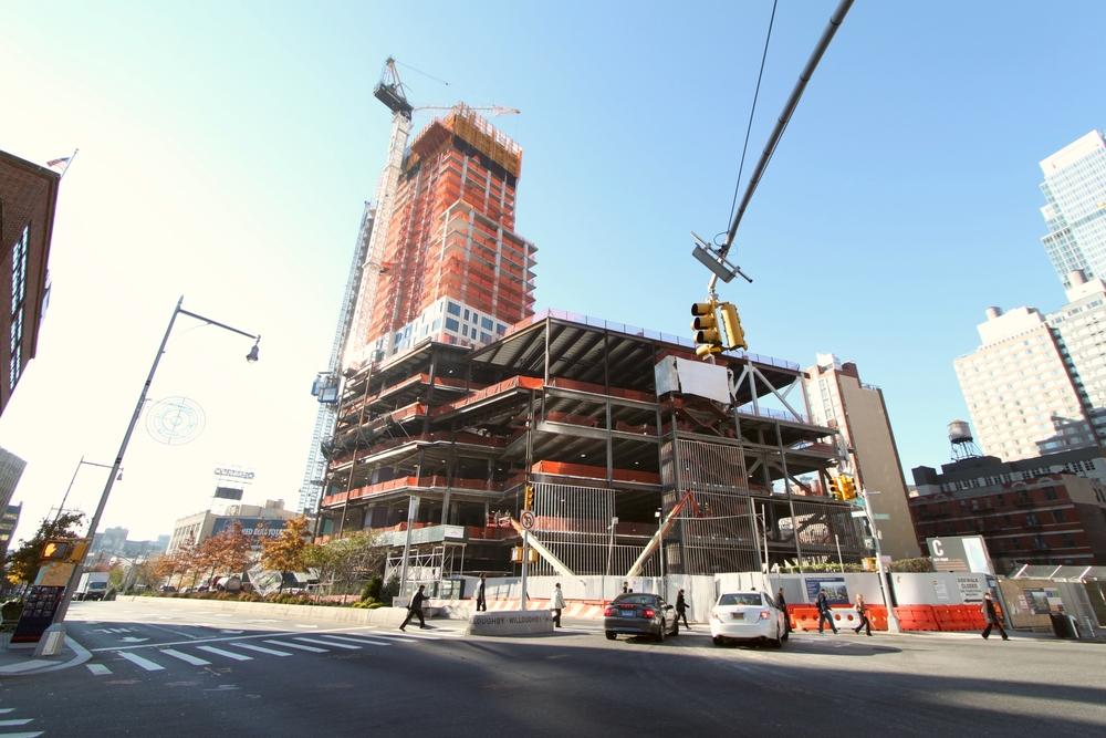 A photo of construction progress