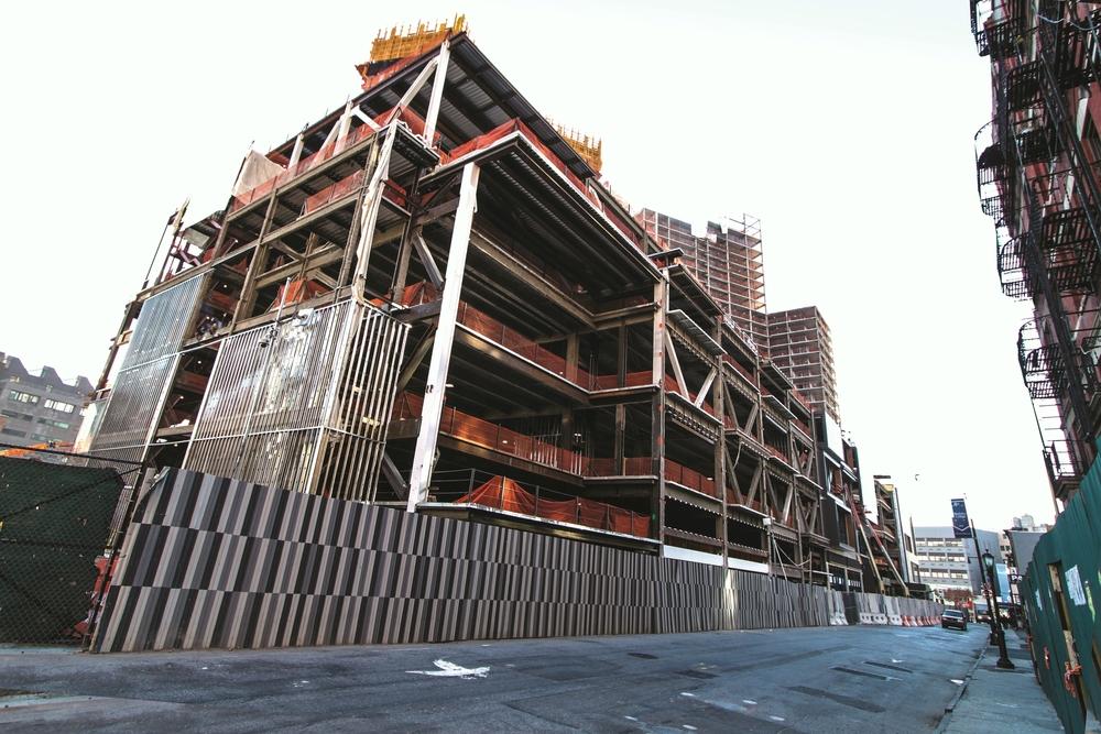 Photo of construction progress