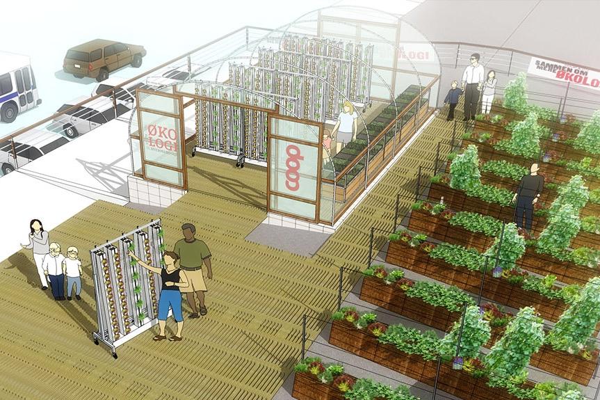 Billede af Fragtmandshallen - projekt med taglandbrug og polytunnel