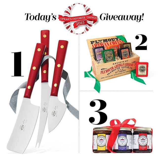 It's Day 2 of the #FavoriteThings2015 Second Chance Giveaway and we have something for the cheese lover…. Like the photo and make sure you're following us for a chance to win!