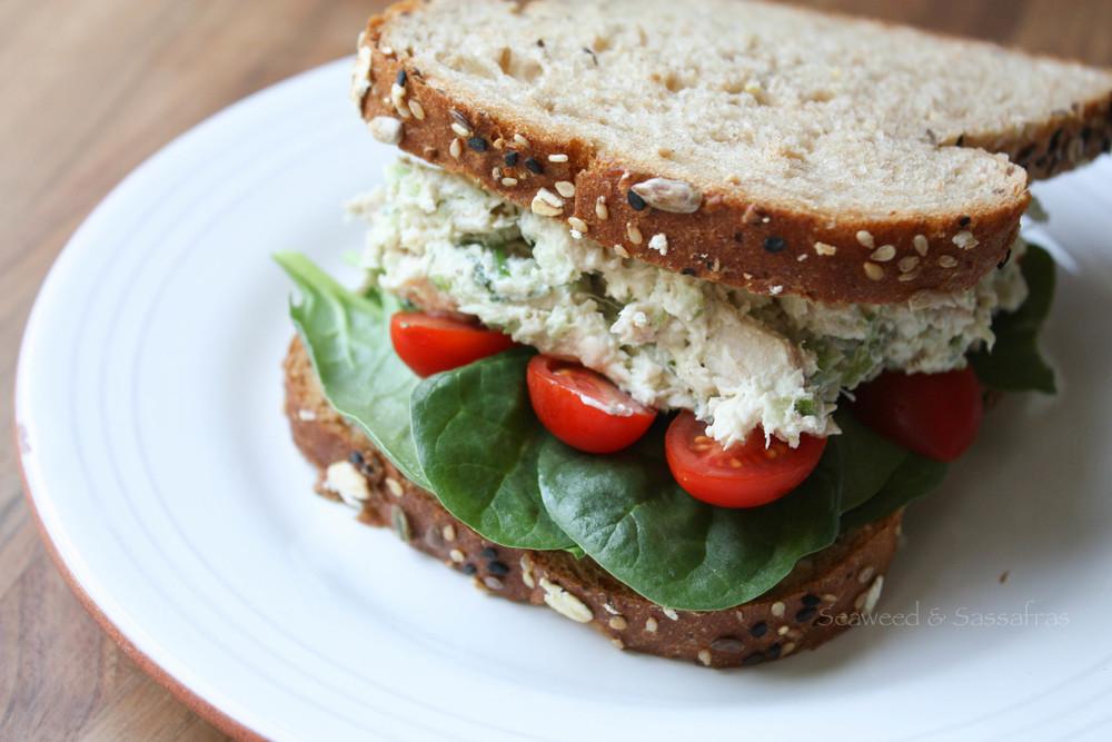Jalapeno Basil Chicken Salad | Seaweed & Sassafras
