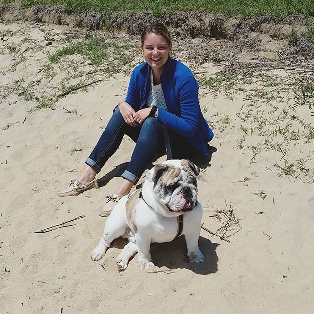 Happy #fridayintroductions Watson, my English bulldog, just turned four! We took him down to the river to celebrate. He can't swim but he does like to stand in the shallow end which is completely adorable. He loves strawberries and pizza crust and because he's having eye surgery next week I'm spoiling him a little extra.  #fridayvibes #englishbulldog #bulldogsofinstagram #getoutside #furbaby #watson #dogsofinstagram #cuddlebug #thatsdarling #liveauthentic #darlingweekend #joy #pursuepretty #wildernessculture