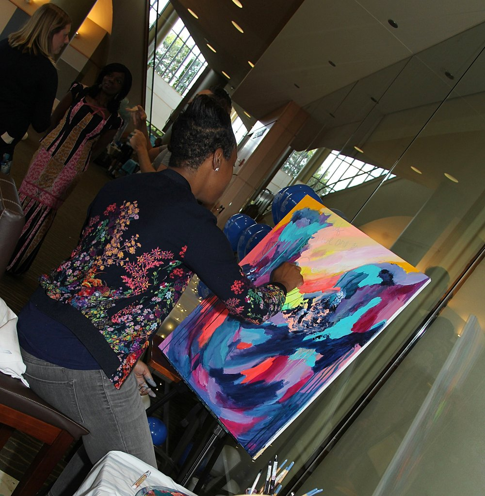 Live Painting at Willow Creek church Human Trafficking event, Fall 2017