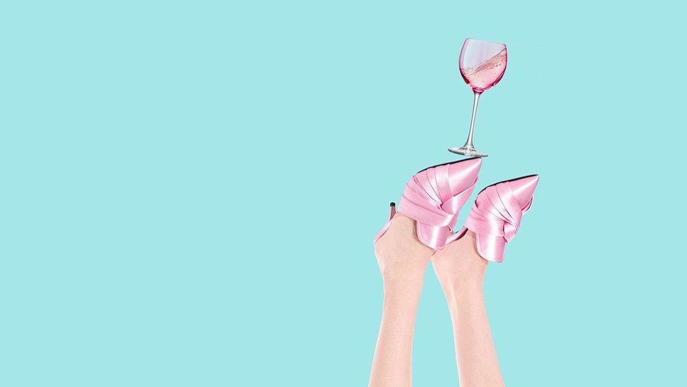 N21 - Pink Satin Mules