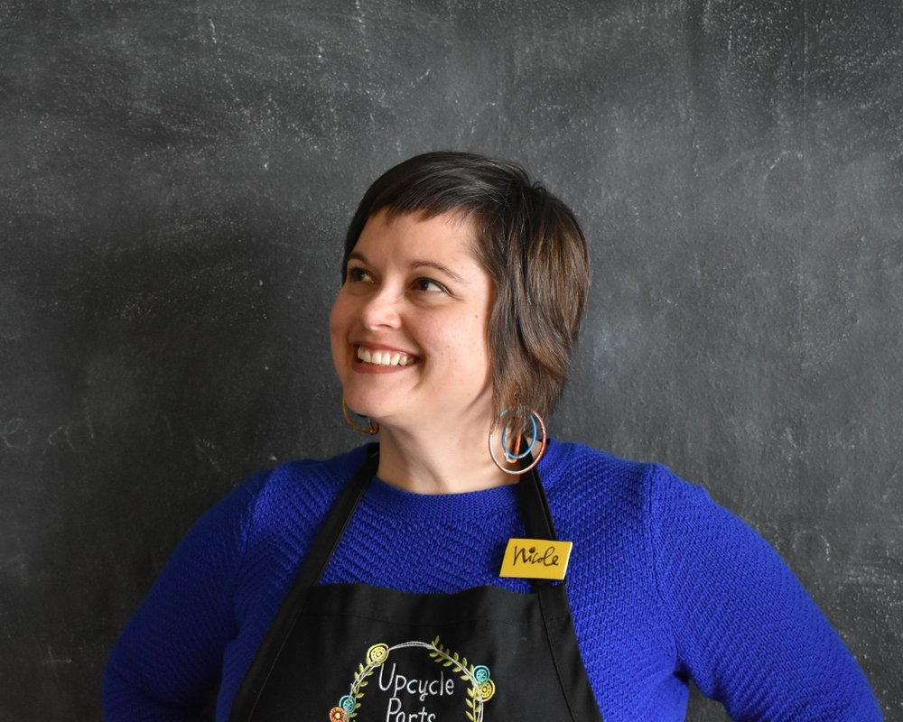 Nicole McGee - Co-founder + Executive Directornicole@upcyclepartsshop.org