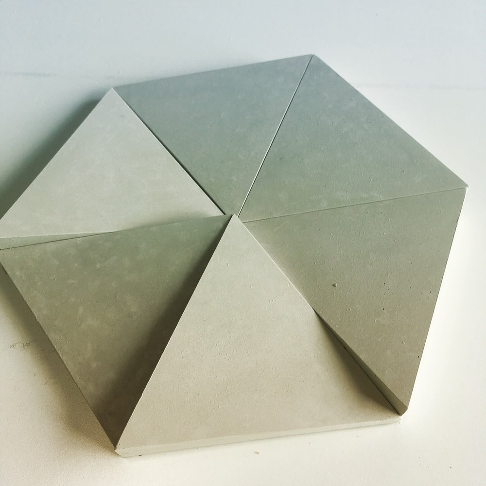 FACET tiles are sized at 10 per square foot and will be available in natural gray only, ready to ship november 1, 2018