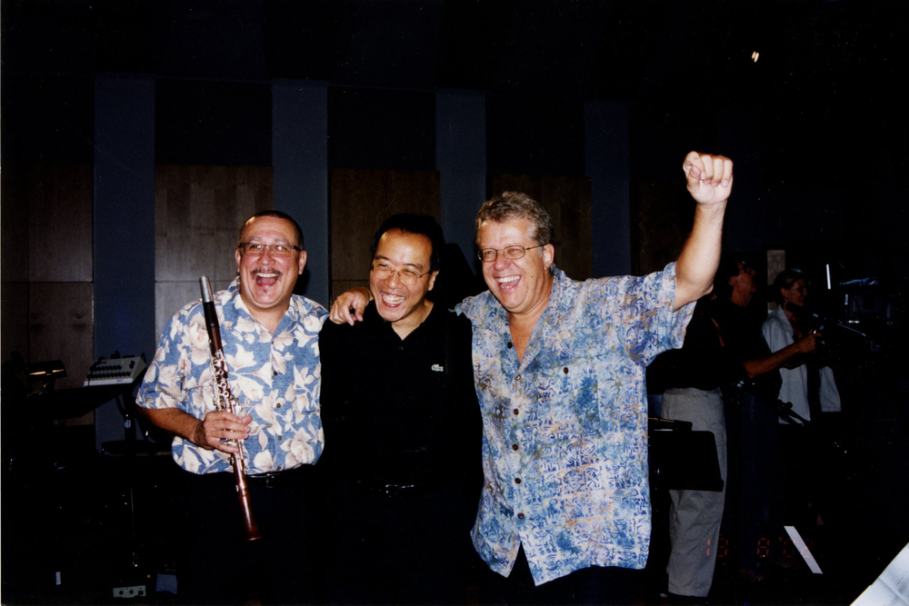 Paquito, Yo-Yo Ma, and Friend