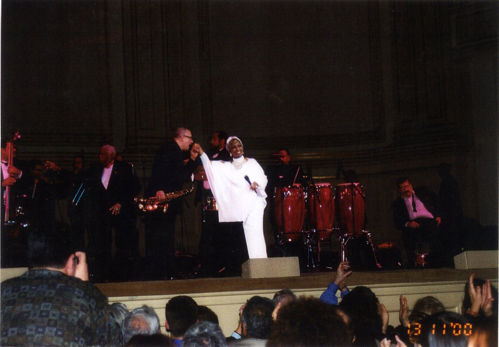 Paquito D'Rivera and Celia Cruz