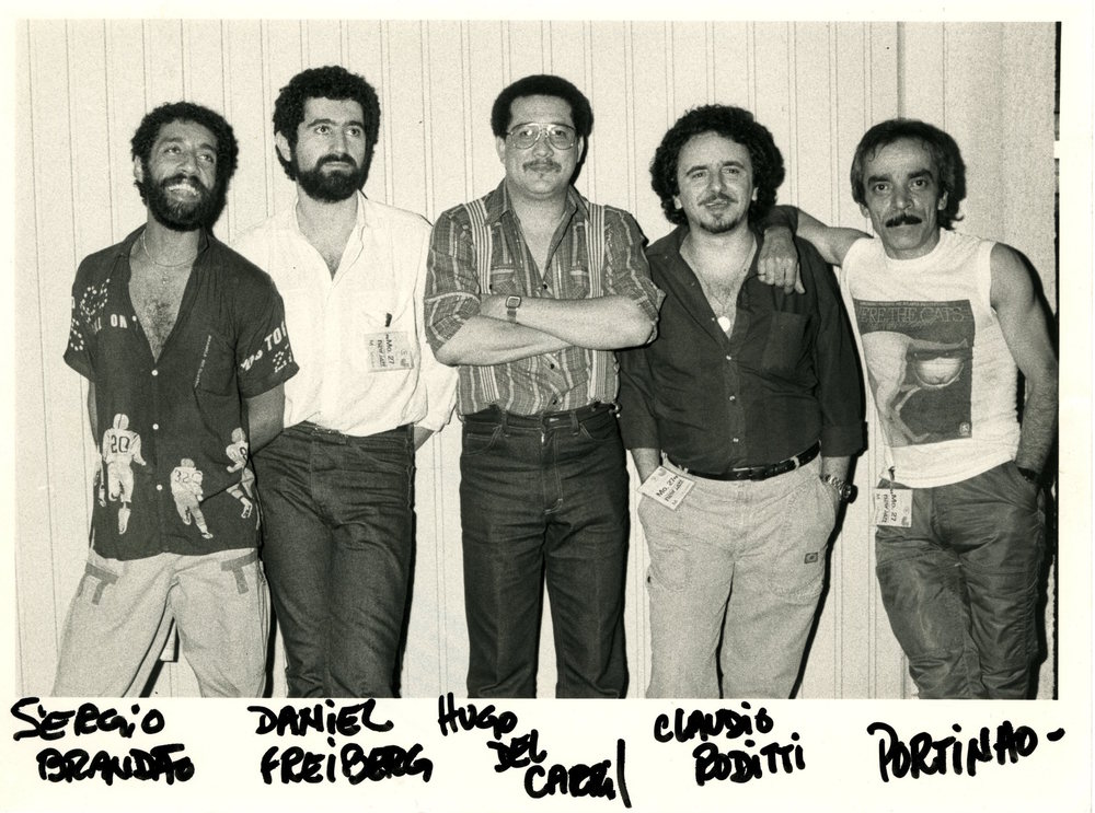 With Sergio Brandão, Daniel Frieberg, Hugo del Carral, Claudio Roditti, and Portinho