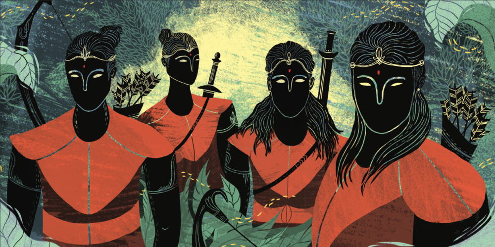 Ramayana 02 - Rama and his brothers.png